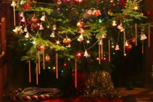 Christmas tree with chimes