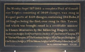 1865 peal board